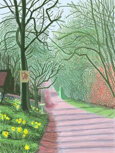 Arrival of Spring in Woldgate, Digital Works  David Hockney