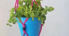 Innova Manualidades: Colgante para Macetas de trapillo (MUY FÁCIL) Planter Pots, Hanging Flower Pots, Innovative Products, Trapillo, Plants
