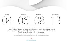 Apple Anuncia que la Keynote del iPhone 6 del 9 de Septiembre se Podrá Seguir en Streaming