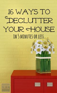 16 Ways To Declutter Your House~ I've tried these ideas and they work great!!!! Just do one and day and in a couple weeks…. you decluttered and it wasn't even painful.