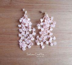 《受注製作》Pierces, Tatting Jewelry Flower…