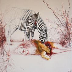 Louise McNaught. Instant Karma, 2012. Oil, ink, pencil and emulsion on canvas, 40x40x2cm (28.1.12).