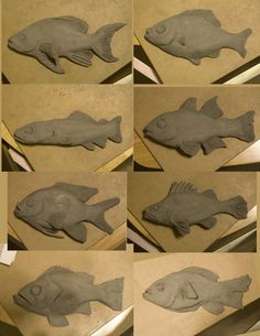 Clay Fish-possible fourth grade project. Identify a fish from Nebraska and sculpt it.