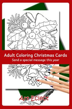 The fun and festive drawings are the perfect size for a relaxing fun project you can accomplish in a single sitting 3d Christmas, Christmas Settings, Christmas Colors, Xmas, Coloring Book Pages, Printable Coloring Pages, Coloring Sheets, Christmas Graphics, Colorful Drawings