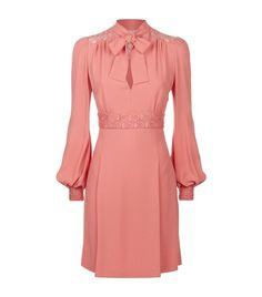 Women: Long Sleeved Dresses Elie Saab Lace Panel Tie Neck Dress