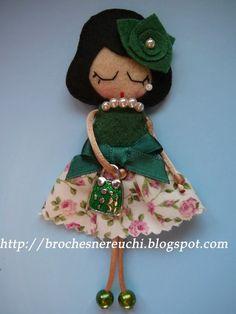 Felt Doll Brooch Idea