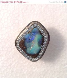 SALE rough Boulder Opal sterling silver by YaronaJewelryDesign, $161.10