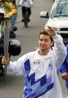 Lance Bass and the Olympic Torch 2002