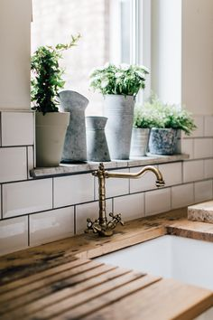 Belfast Sink And Reclaimed Scaffold Worktop - A Pared Back, Minimal And Stylish Two Bed Period Property