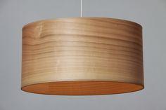 Lampenschirm Echtholzfurnier Kirsche - unbeleuchtet, Anfertigung auf Wunsch, Durchmesser 40 bis 60 cm