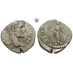 Römische Kaiserzeit, Clodius Albinus, Caesar, Denar 194, ss: Clodius Albinus, Caesar 193-195. Denar 194 Rom. Kopf des Clodius… #coins