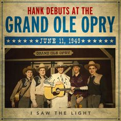 This was what Hank Williams was meant to do. #ISawTheLight