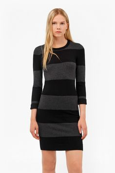 Rugby Stripe Bambi Dress   New Arrivals   French Connection Usa
