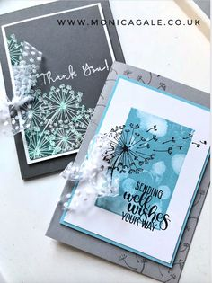 dandelion wishes stampin up cards Handmade Birthday Cards, Greeting Cards Handmade, Karten Diy, Dandelion Wish, Hand Stamped Cards, Stampin Up Catalog, Beautiful Handmade Cards, Stamping Up Cards, Marianne Design