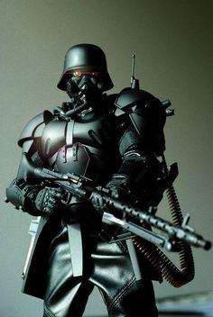 Character Concept, Concept Art, Jin Roh, Evil Empire, Goth Model, Future Weapons, Warhammer 40000, Dieselpunk, Cyberpunk