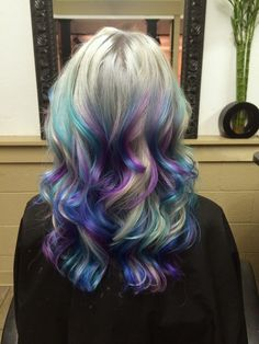 pastel and silver hair by Ursula Goff www.outrageousrainbows.com