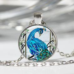 Hey, I found this really awesome Etsy listing at https://www.etsy.com/listing/129851073/blue-peacock-necklace-bird-jewelry