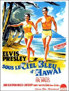 A French poster for the 1961 Elvis Presley musical BLUE HAWAII. (Source: moviecovers.com)