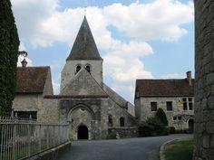 Yèvre-le-Châtel (Loiret), l'église Saint-Gault.