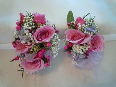 Pink sweetheart rose corsages Designed By: hillside-consultants.com Wedding Corsages, Dinners, Floral Wreath, Wreaths, Flowers, Pink, Crafts, Design, Decor