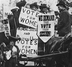 Women FIghting for their right to vote in 1848