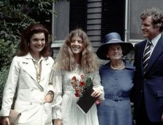 From left: Jackie Kennedy Onassis, Caroline Kennedy, Rose Kennedy and Ted Kennedy pose for a photo at Caroline Kennedy's graduation from Concord Academy, June (Ron Galella/Getty Images) Les Kennedy, John Kennedy Jr, Caroline Kennedy, Jacqueline Kennedy Onassis, Sweet Caroline, Jaqueline Kennedy, Caroline Rose, Edwin Schlossberg, Familia Kennedy
