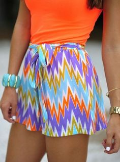 colorful chevron outfit