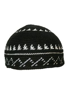 cda8f80c77c 100% Cotton Nit Hat   Kufi Islamic Fashion