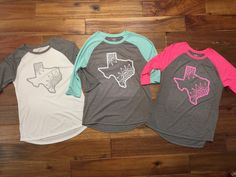 A personal favorite from my Etsy shop https://www.etsy.com/listing/500956755/texas-raglan-monogrammed-tee