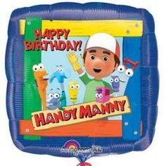 18 Inch Handy Manny Foil Birthday Balloon *** Details can be found by clicking on the image.