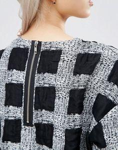 ASOS White | ASOS WHITE Textured Check Top