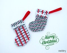 Free Christmas Stocking Ornament Sewing Pattern