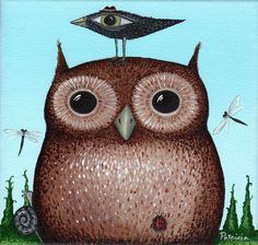 Patti Backer. Free print Owl Lover 2012 Calendar. Clever how she lets you choose the picture for each month