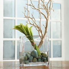 rock water stem & greenn cala lillies