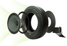 Despite all appearances, no, this isn't a portable speaker. The Seal Recycled Tire Speaker sure looks like it's ready to hit the road, though — it's housed in a recycled and freshened up tire. Tyres Recycle, Recycled Tires, Home Projects, Projects To Try, Car Furniture, Diy Speakers, Old Tires, Speaker Design, Automotive Decor