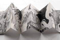 The Journey - Accordion book on Drawing Served