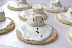 Smashed Peas and Carrots: Christmas Traditions: Melted Snowman Sugar Cookies