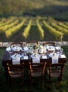 It's a perfect weekend to create a table scape and drink wine