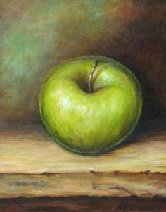 images of apple painting | Green Apple Painting