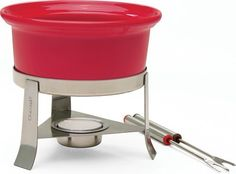 Chantal Fun Fondue For Two, Red - http://cookware.everythingreviews.net/8720/chantal-fun-fondue-for-two-red.html