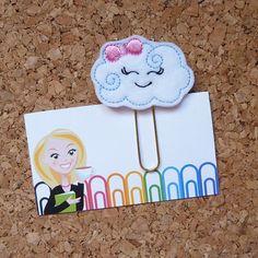 Felt Cloud Paper Clip | Bookmark | Planner Clip | Refrigerator Magnet | Cute Brooch Pin |Organizer | Calendar | Planner Accessory | 280