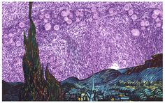The Starry Night: Histology Remix