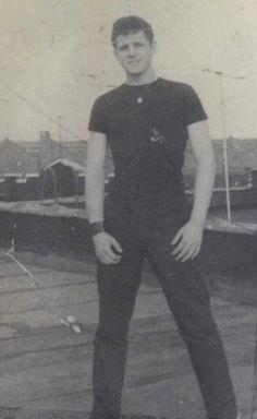 My hoodlum father on his Brooklyn rooftop 17 y/o 1959.