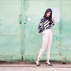 """Mega Ng  on Instagram: """"Gonna keep this pants in another colour simpy cos i am so into straight cut / cigarette pants lately. And this pants is no exception. Loving the cut and paperbag details at the waist!   : @littlepirouette #mggotd #ootd #ootdindo #wearitloveit #fashion #megagamie #streetstyle"""""""