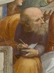 Anaximandro de Mileto, fue un filósofo y geógrafo griego. Discípulo y continuador de Tales,compañero y maestro de Anaxímenes.  Su pensamiento se centra en que el principio de todas las cosas es ápeiron, es decir, lo indefinido, lo indeterminado. El Cosmos según Anaximandro: Anaximandro dice que la Tierra se parece a una columna de piedra y que el eclipse de sol se produce al obstruirse la abertura de exhalación del fuego.Fue el primero que publicó un tratado en prosa sobre la naturaleza.