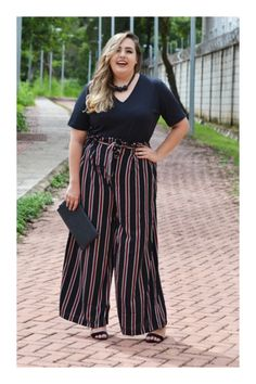 Simple Summer to Spring Outfits to Try in 2019 Curvy Outfits, Plus Size Outfits, Casual Outfits, Fashion Outfits, Looks Plus Size, Look Plus, Big Girl Fashion, Curvy Fashion, Plus Size Sommer