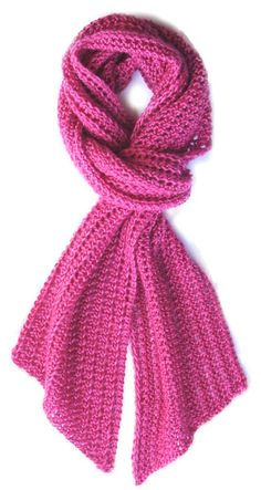 """Knit for the Girls"" pink ribbon scarf    http://www.ravelry.com/patterns/library/knit-for-the-girls-pink-ribbon-scarf"