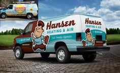 Rebranding your HVAC Business: Before and After Truck Wrap Successes