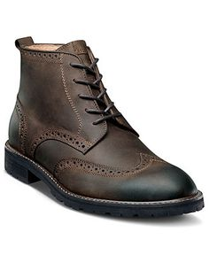Florsheim Boots, Gafney Wingtip Lace Boots - Mens Boots - Macy's