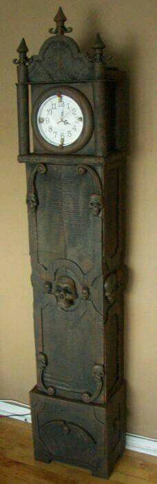 Cardboard grandfather clock-2
